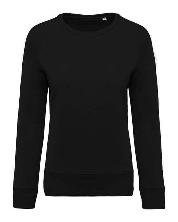 Zwarte Trui Dames.Dames Sweater Bio Ronde Hals Raglan Mouwen Bestel Je Makkelijk En