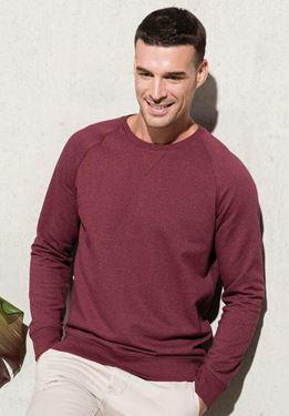 Heren Sweater BIO Ronde Hals Raglan Mouwen