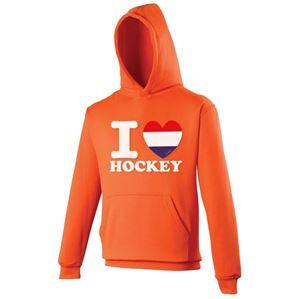 I Love Hockey Oranje Hoodie