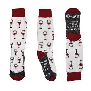 Crew Socks Wine Time