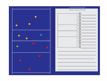 Magnetisch Coachmap Met Klip En Schrijfblok Volleybal 8718807606463