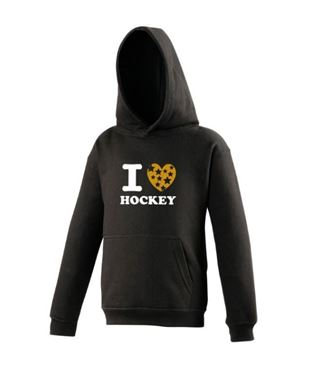 I Love Hockey Sweater Zwart