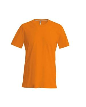 Heren T-Shirt Korte Mouw Ronde Hals Oranje