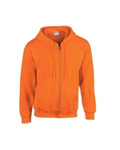 Oranje Gildan Heavy Blend Adult Full Zip Hooded Sweatshirt