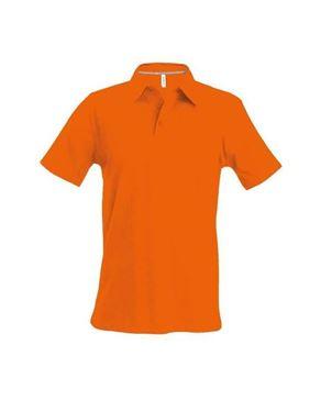 Oranje Heren Polo Met Korte Mouwen Kariban