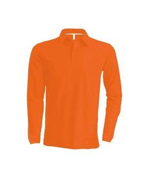 Oranje Heren Polo Met Lange Mouwen Kariban