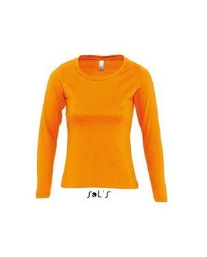 Oranje Dames T-Shirt Lange Mouwen