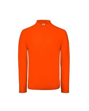 Oranje Heren Polo Lange Mouwen BC ID.001
