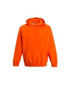 Fluor Oranje kinder Hoodie