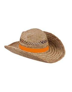 Stroo Hoed Met Oranje Band