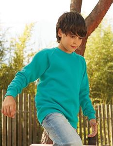 Kids Raglan Sweat Fruit Of The Loom