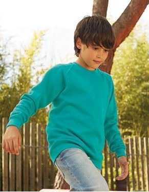 Kids Raglan Sweat Fruit Of The Loom