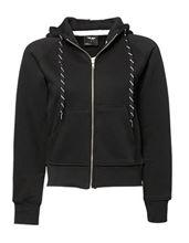 Tee Jays Ladies Hooded Zip-Sweat Black