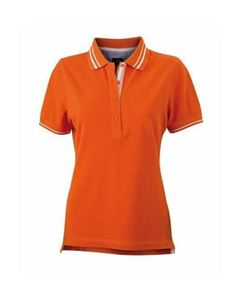 Oranje Dames Polo 4 knopen