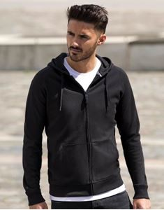 Mens HD Zipped Hood Sweat Russell