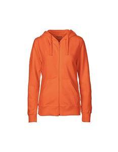 Oranje Fairtrade Dames Vest Dames Vest Met Capuchon Van Neutral