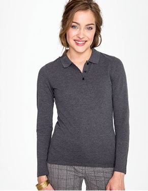 Womens Long-Sleeve Piqué Polo Shirt Perfect SOL´S