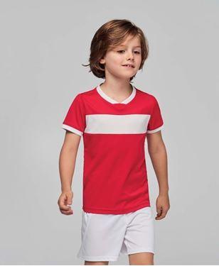 Sportshirt Korte Mouwen Kids Contrast Stripe