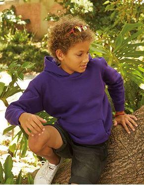 Kids Hooded Sweat Fruit Of The Loom