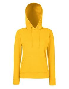 Fruit of the Loom Classic Lady-fit Hooded Sweat Kelly Green