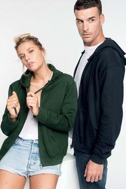 Sweater Met Rits En Capuchon Kariban