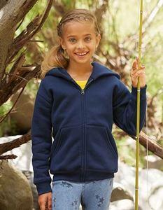 Premium Kids Hooded Sweat Jacket Fruit Of The Loom