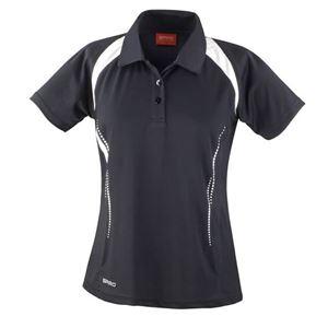 Afbeelding van SALE Dames team polo Spirit Black / White maat XL