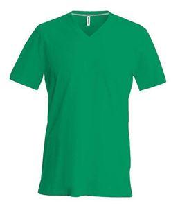 Afbeelding van SALE Heren T-Shirt V Hals Groen maat L