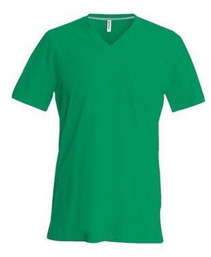 Picture of SALE Heren T-Shirt V Hals Groen maat L