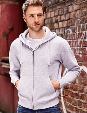 Men`s Authentic Zipped Hood Jacket Russell
