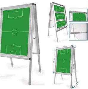 Flipover coachbord Voetbal, magnetisch en beschrijfbaar!