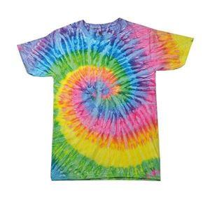 Colortone Rainbow Tie-Dye Shirt Saturn