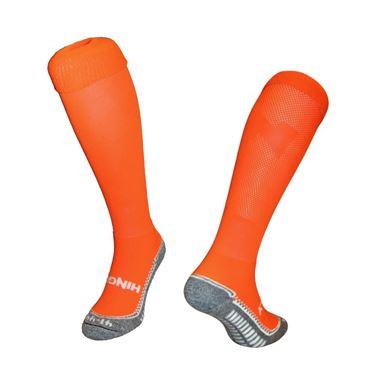 Effen Fluor Oranje sportsokken