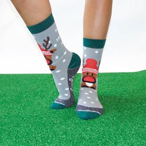 Crew Socks Rudolf Grey