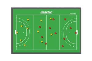 Sportec Magnetisch Coachbord Hockey 45 X 60 Cm