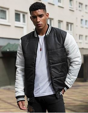 Just Hoods Varsity Puffer Jacket