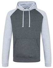 Baseball Hoodie Charcoal (Heather) / Heather Grey