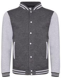 BaseBall Jacket Charcoal - Heather Grey