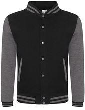 Base Ball Jacket Zwart - Charcoal