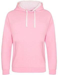 Varsity Hoodie Baby Pink - Arctic White