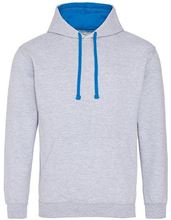 Picture of Varsity Hoodie Heather Grey - Sapphire Blue