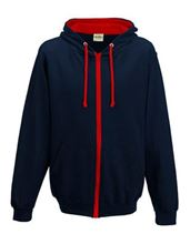 Picture of Varsity Zoodie New French Navy / Fire Red