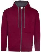 Picture of Varsity Zoodie Burgundy / Charcoal