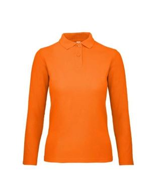 Oranje Dames Polo Lange Mouwen B&C ID.001