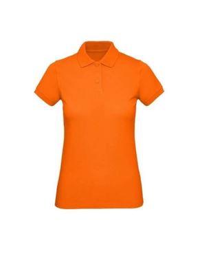 Oranje Dames Polo Organisch Katoen