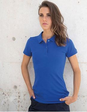 Henbury Ladies Microfine-Piqué Polo Shirt