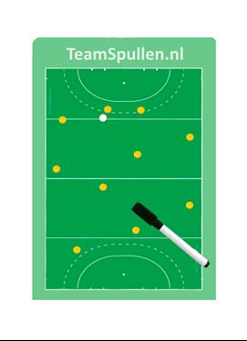 A4 formaat coachbord voor Hockeyclubs