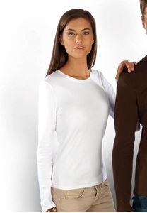 Kariban Dames T-Shirt Carla Met Lange Mouwen Kariban Wit Maat S