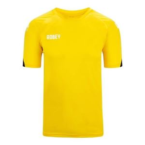 Robey Counter Shirt Korte Mouw Geel