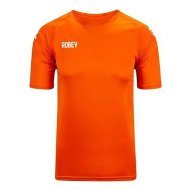 Robey Counter Shirt Korte Mouw Oranje